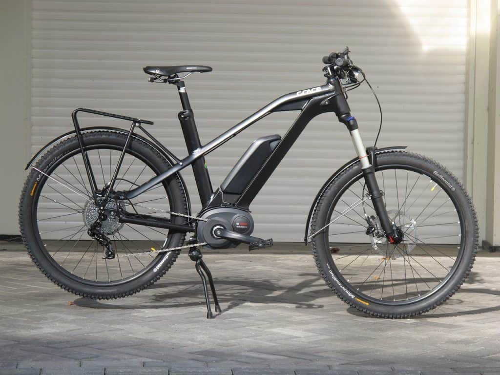 ebike with visible battery