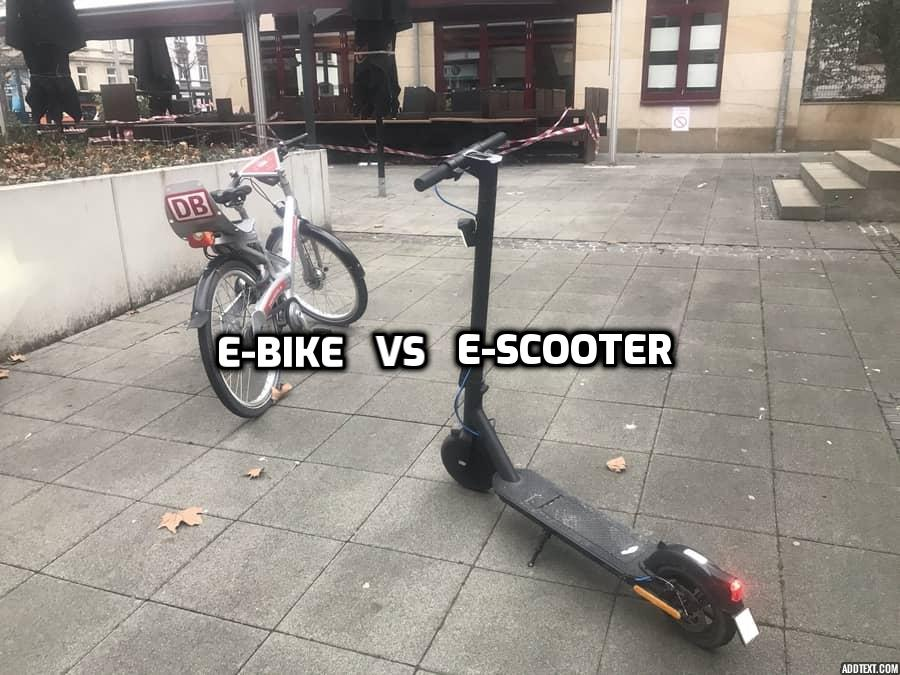 ebike vs escooter on the street